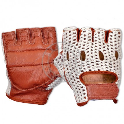 Real Leather Cycle Gloves