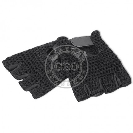 Goat Leather Mesh Velcro Cycle Gloves