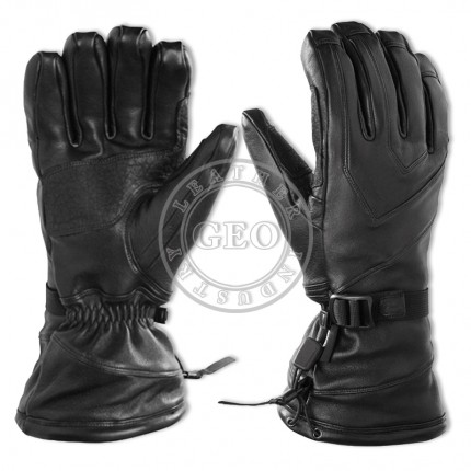 Full Leather Ski Gloves
