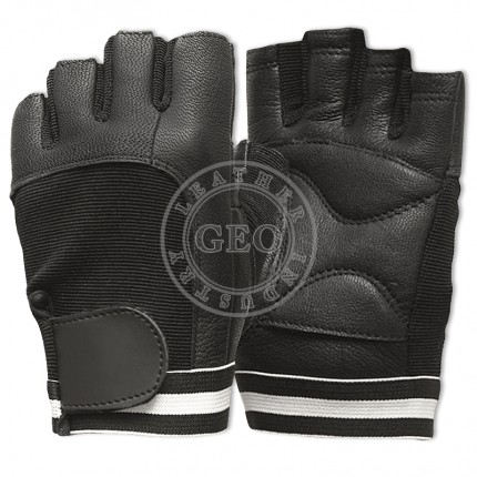 Men Power Sports Gym Fitness / Pakistan Factory Price / Leather Weight Lifting Gloves