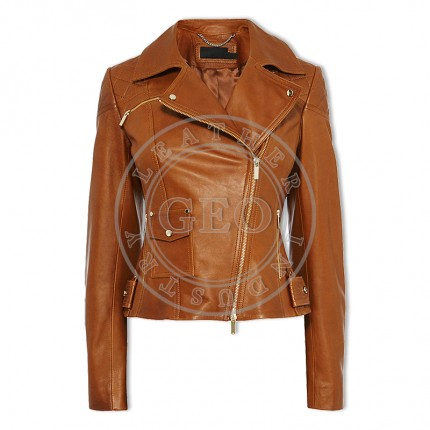 Custom Best Selling Fashion Leather Jackets For Ladies