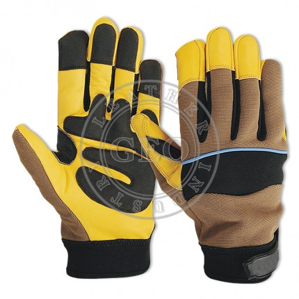 Work Safety Goat Leather Mechanics Gloves